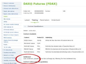 dax-settlement