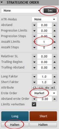 Mit dem strategischen Order-Panel vom StereoTrader lassen sich Strategien und bestimmte Trading-Mythen einfach und unbürokratisch am laufenden Markt überprüfen.