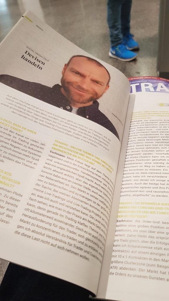 """Mein erster und nicht letzter Artikel im Traders' Magazin. Nach diesem kleinen Interview geht es in der Folgeausgabe direkt weiter mit dem Thema """"Grid-Trading für Anfänger""""."""